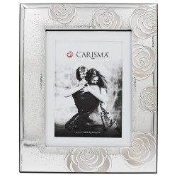 Roses Decorated Silver Picture Frame 7 x 9