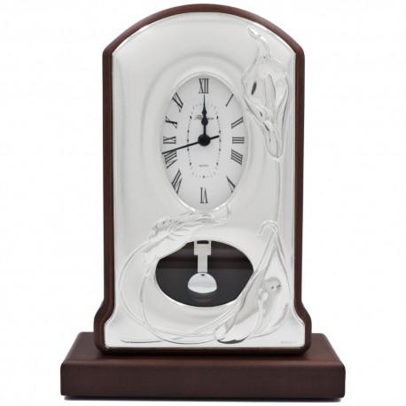 Pendulum Clock with Lilies Decoration