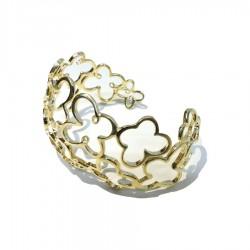 Solid Silver Bangle Butterfly Bracelet