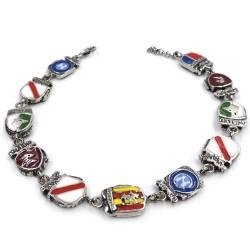 Enamelled Solid Silver Campania Region Bracelet