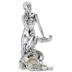 Blindfolded Goddess Sitting on Cornucopia