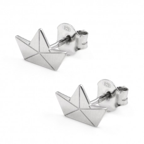 Sterling Silver Origami Earrings