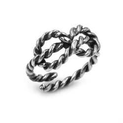 Love Knot Ring Burnished Sterling Silver