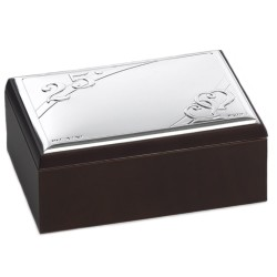 25th Anniversary Jewelry Box with PVD Silver Cover