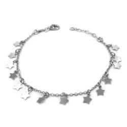 Sterling Silver Stars Bracelet