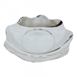 800 Sterling Silver glossy bon bon bowl with scalloped edge
