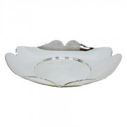 800 Sterling Silver Glossy Quatrefoil Shaped Bon Bon Bowl