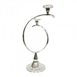 800 Sterling Silver Two Armed Spiral Candelabra