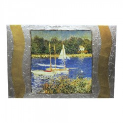 Framework on Wood Basin at Argenteuil by Claude Monet by Re Argento