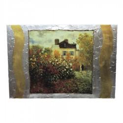 Quadro su Tavola Il Giardino di Claude Monet ad Argenteuil by Re Argento