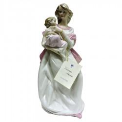 Scultura Maternità in Finissima Porcellana di Capodimonte by Vittorio Sabadin
