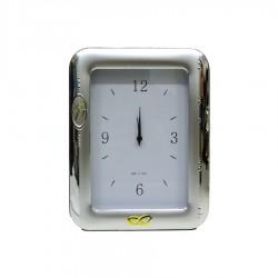 Orologio da Tavolo con Funzione Sveglia in Argento Cinquantesimo Anniversario