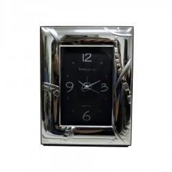 Orologio da Tavolo con Funzione Sveglia in Argento Lucida Stone