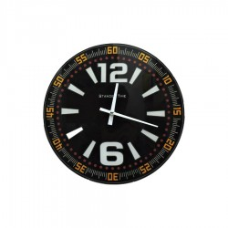 Wall Clock in Glass Time B by Mauro Ferretti