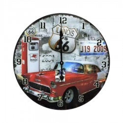 Wall Clock in Glass Sixty Six by Mauro Ferretti