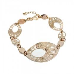 925 Sterling Silver Glossy Auburn Watermark Bracelet By Taitù