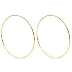 Gold Plated Sterling Silver Large Hoop Earrings