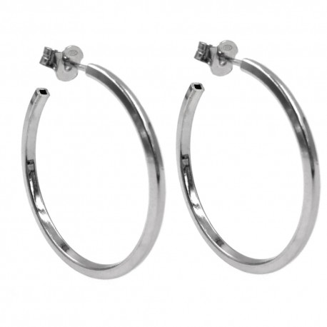 Hoop Earrings Barrel Square