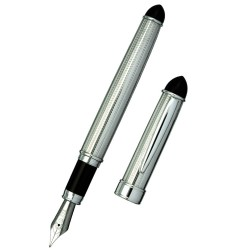 Glossy Lacquer and Sterling Silver Fountain Pen