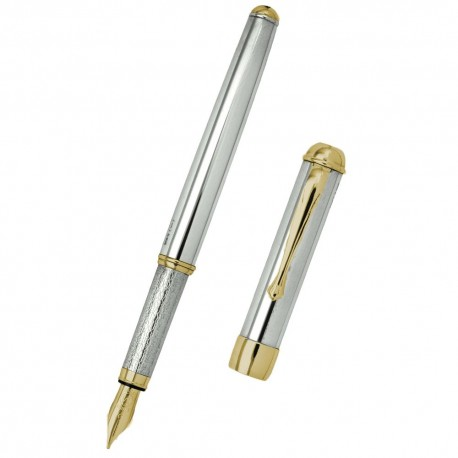 Sterling Silver Fountain Pen with Gold Plated Details