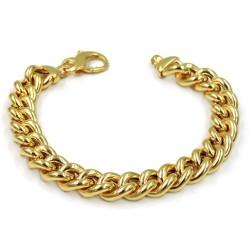 Bracciale Grumetta in Argento 925 Placcato Oro