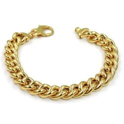 Gold Plated 925 Sterling Silver Curb Bracelet