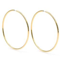 925 Sterling Silver Classic Hoop Earrings