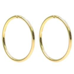 Gold Plated Sterling Silver Hoop Earrings 0,98''