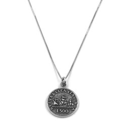 500 Lire Sterling Silver Necklace