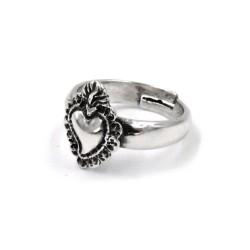 Sterling Silver Heart Votive Ring