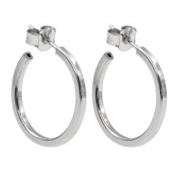 Barrel Square Hoop Earrings 0,78''
