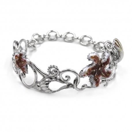 Starfish Coral Semi Rigid Bracelet