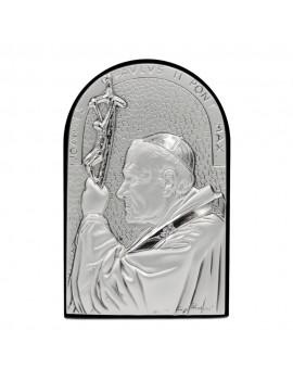 Pope Joannes Paulus II Sterling Silver Frame