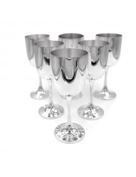 Solid Silver Water Glasses Set of 6