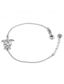 925 Sterling Silver Origami Turtle Bracelet