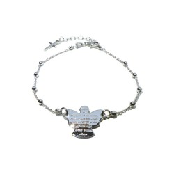 925 Sterling Silver Bracelet With Prayer Angel of God  by Damiano Argenti