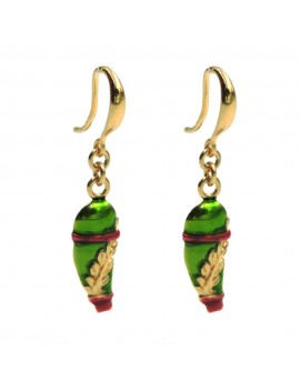 Ace of Clubs Earrings Gold Plated and Enamelled 925 Sterling Silver