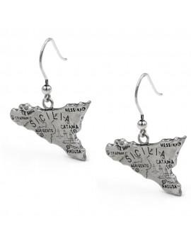 Sicily Silver Earrings
