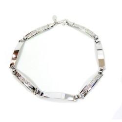 925 Sterling Silver Bracelet Greek Decor