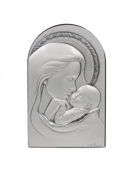 Holy Mother with Child 925 Sterling Silver Frame