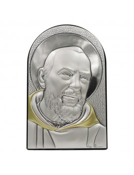 925 Sterling Silver Icon of Saint Pio from Pietrelcina