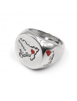 Sicily Sterling Silver Oval Ring