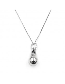Sterling Silver Light Bulb Necklace