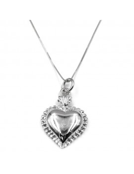Customizable 925 Sterling Silver Holy Heart Necklace