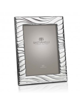 925 Sterling Silver Photo Frame Waves 5x7