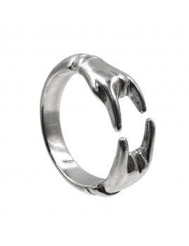925 Sterling Silver Lucky Horns Ring