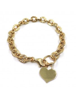 Gold Plated Sterling Silver Bracelet with Customizable Heart