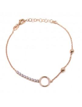 Rose Gold Plated 925 Sterling Silver Bracelet