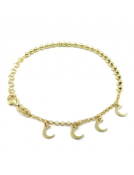 Gold Plated 925 Sterling Silver Bracelet with Small Moons