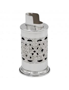 Baroque 925 Sterling Silver Table Lighter Holder
